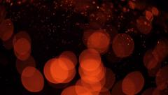 Blurred lights on a black background. Sequence Stock Footage