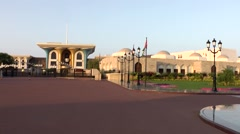 Muscat / Maskat Arabia Orient Oman sultanate 100 sultan palace square Stock Footage