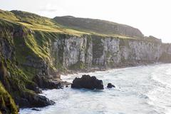 Seascape at the carrick a rede in northern ireland Stock Photos