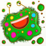 Spotty Germ Painting Stock Illustration