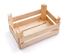 empty crate for fruits and vegetables - stock photo