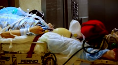 Emergency ER Patient in Hospital - stock footage