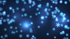Falling snowflakes loop christmas background Stock Footage