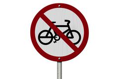 No bikes allowed sign Stock Illustration