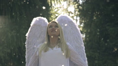 White Angel Stock Footage
