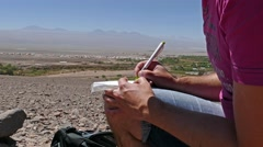 Geocacher atacama Stock Footage