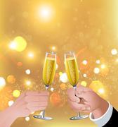 Celebratory toast Stock Illustration