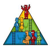 Organization Hierarchy - stock illustration