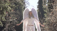 White Angel and Sun Stock Footage