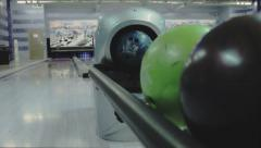 Equipment for bowling Stock Footage