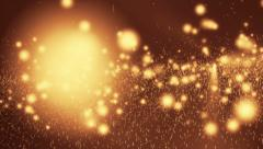 Abstract bokeh golden particles Stock Footage