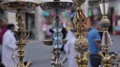 Souq Waqif, Hubble Bubble Water Pipes, Doha, Qatar, Middle East Stock Footage