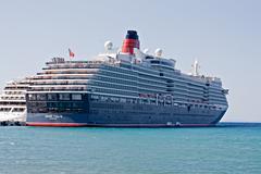 Kusadasi, turkey, september 24, 2014. cruise liner queen victoria on a visit Kuvituskuvat