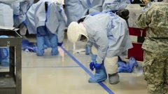 Ebola Training Stock Footage