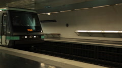 Metro Train at Saint-Germain-des-Pres, Paris, France, Europe Stock Footage