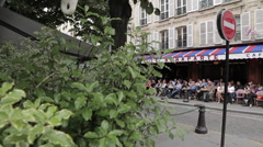 Cafe on Rue de l'Abbaye, Paris, France, Europe Stock Footage