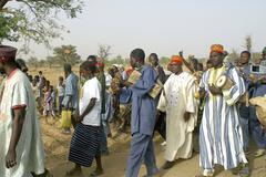 establishment of a usual chief in burkina faso - stock photo