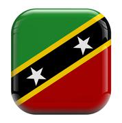 Saint kitts and nevis flag icon image Stock Photos