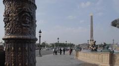Place de la Concorde, Paris, France, Europe Stock Footage