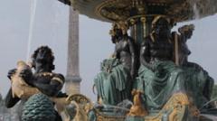 Place de la Concorde, Paris, France, Europe - stock footage