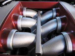 V6-Cylinder engine Stock Photos
