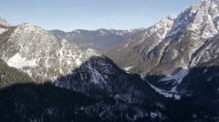 Aerial - Late afternoon in the Julian Alps Stock Footage