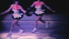 Figure Skating Ice Show-1962 Vintage 8mm film Stock Footage