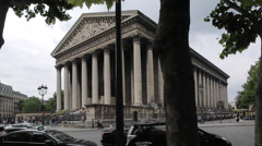 L'eglisede la Madeleine, Paris, France, Europe Stock Footage