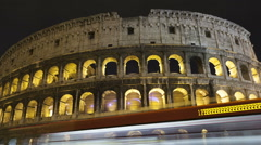 Stock Video Footage of Time lapse zoom out Colosseum Rome, Italy