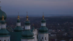 Chernihiv, ancient Orthodox churches Stock Footage