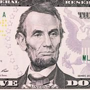 the face lincoln the dollar bill - stock photo