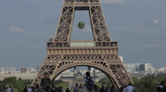 Eiffel Tower from the Trocadero, Paris, France, Europe Stock Footage