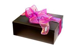purple gift - stock photo