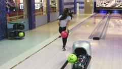 Bowling game Stock Footage