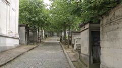 Graves, Pere Lachaise Cemetery, Paris, France, Europe Stock Footage