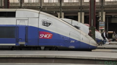 SNCF Trains, Gare de Lyon, Paris, France, Europe Stock Footage