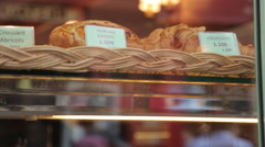 Bakers Shop Window, Montmartre, Paris, France, Europe Stock Footage