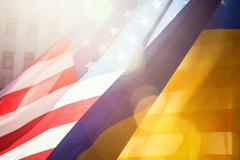 Ukraine and usa alliance Stock Photos