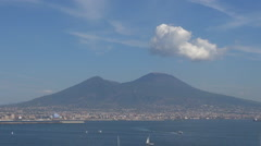 Beautiful panorama Mount Vesuvius Vesuvio Naples iconic Napoli landmark emblem  Stock Footage