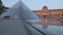 The Louvre, Paris, France, Europe Stock Footage