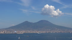 Timelapse beautiful aerial view Mount Vesuvius Vesuvio Naples landmark tourism  Stock Footage
