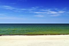 Tricolor sea landscape Stock Photos