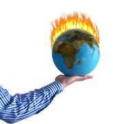 burning world - stock illustration