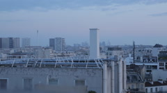View of Eiffel Tower and City, Paris, France, Europe Stock Footage