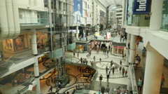 Busy Multi Level Shopping Center Time Lapse - stock footage
