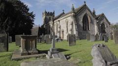Parish Church, Ashford in the Water, Derbyshire, England, Uk, Europe Stock Footage