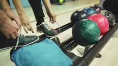 Bowling game - stock footage