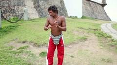 Brazilian playing Capoeira in Salvador, Bahia, Brazil. Stock Footage
