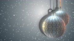 Silver Patterned Christmas Bauble Festive Abstract Motion Background - stock footage