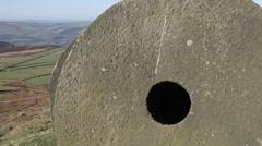 Stanage Edge Millstones, Derbyshire, England, Uk, Europe Stock Footage